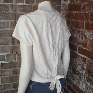 Madewell Verse Tie Back Wrap T Shirt Top